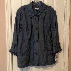 Charter Club 100% Cotton Jeans Blazer